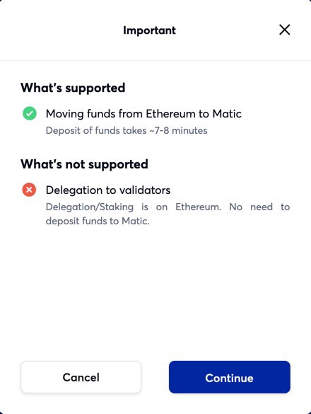 Transferring your assets from the Ethereum Mainchain to the Matic Mainnet — step 3