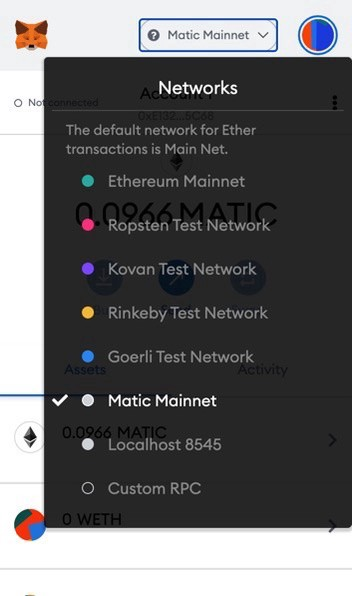 Transferring your assets from the Ethereum Mainchain to the Matic Mainnet — step 8