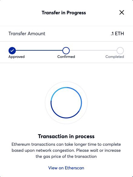 Transferring your assets from the Ethereum Mainchain to the Matic Mainnet — step 6