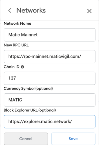 How to Set up MetaMask for Polygon — step 2