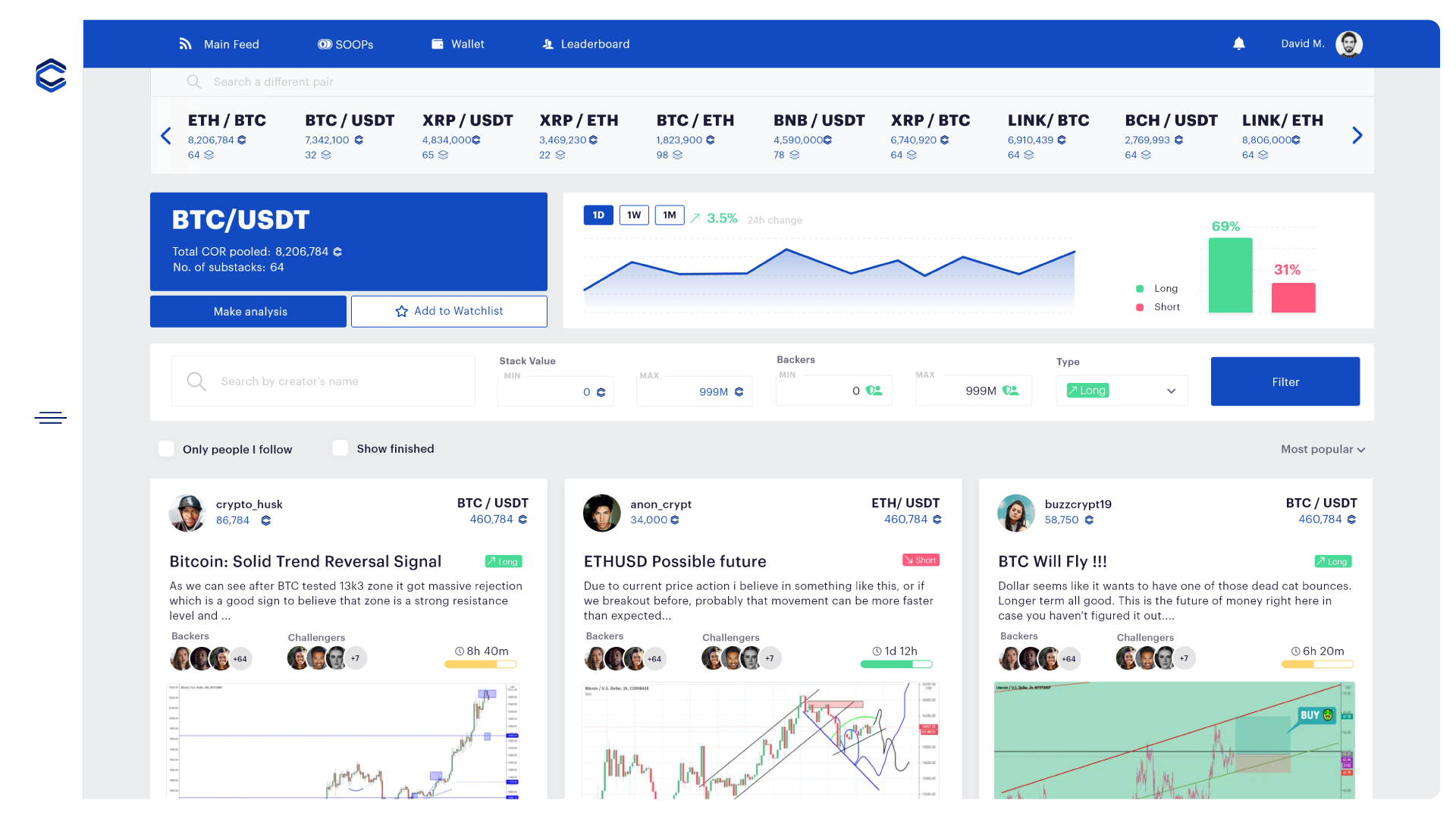 ALPHA Preview —Pair SOOPs   See who predicted and what for your favorite trading pairs