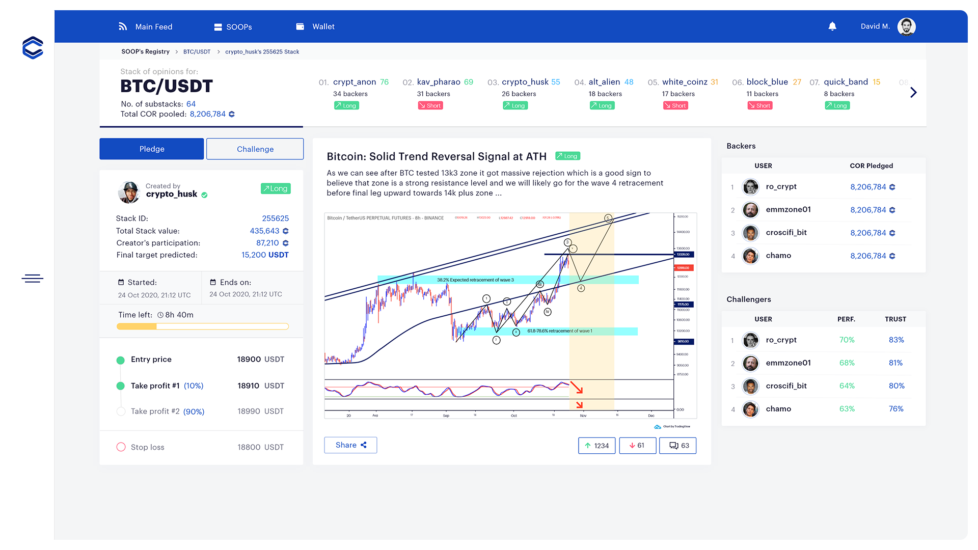 ALPHA Preview —Prediction Stack   See a user's Stacking of Opinion Pool prediction and evolution