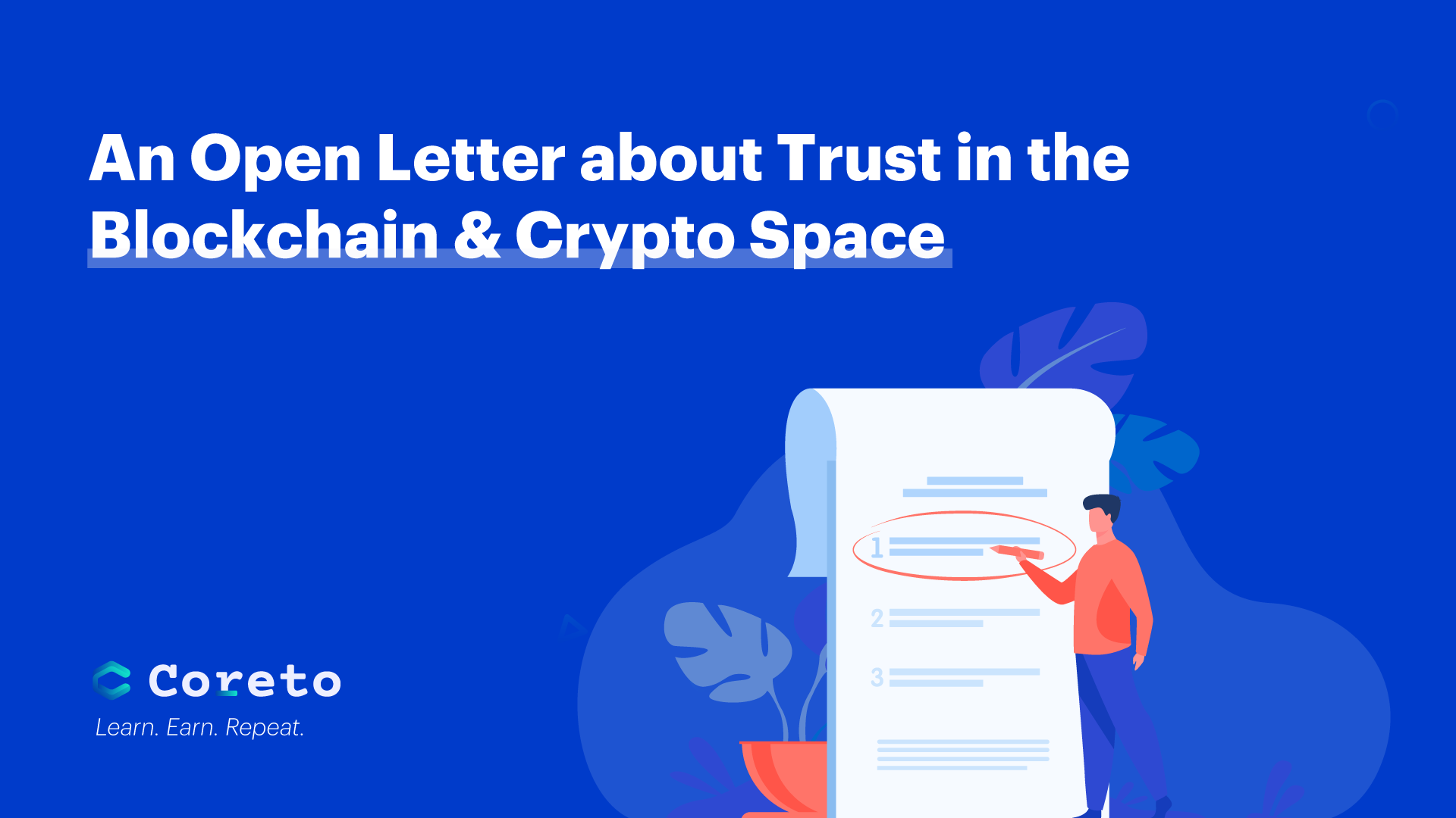 An Open Letter about Trust in the Blockchain & Crypto Space
