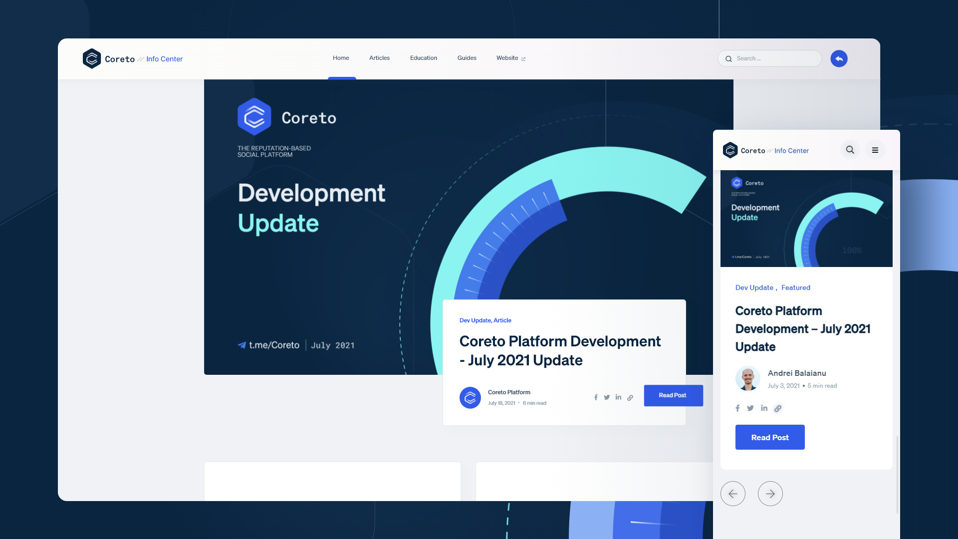 The new Info Center | Coreto.io