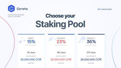 Three new crypto staking pools